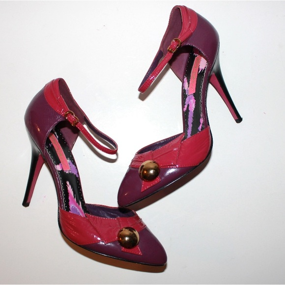 Betsey Johnson Shoes - Betsy Johnson Campy Fun Patent Leather High Heels